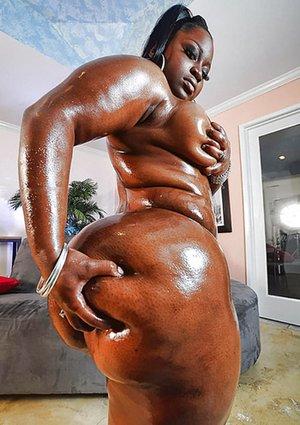 Big Fat Black Oiled Ass